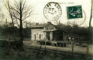 4- La gare du Sentier, vers 1900
